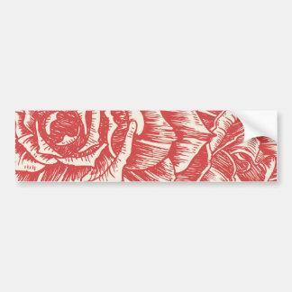 Vintage red roses custom bumper sticker