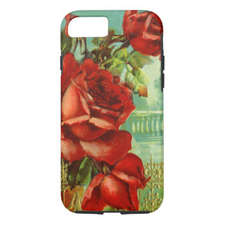 Vintage Red Roses iPhone 7 Case