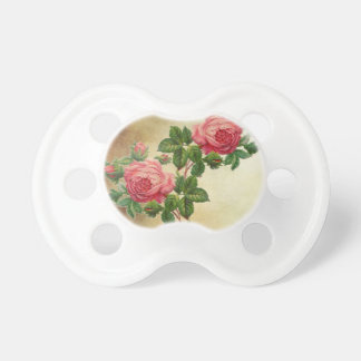 vintage red roses pacifier
