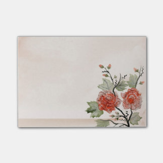 Vintage Red Roses Post-it® Notes 4 x 3