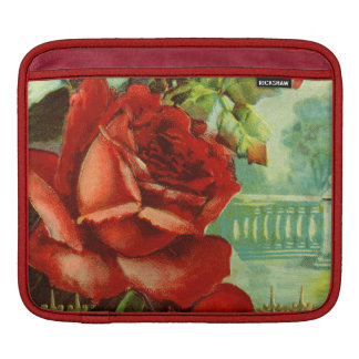 Vintage Red Roses Sleeve For iPads