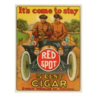 Vintage Red Spot Cigar Ad Postcard