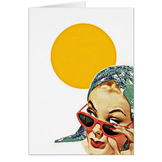 Vintage Red Sunglasses Hello Sunshine! Note Cards