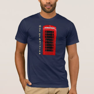Vintage Red Telephone Box Chill Time T-Shirt
