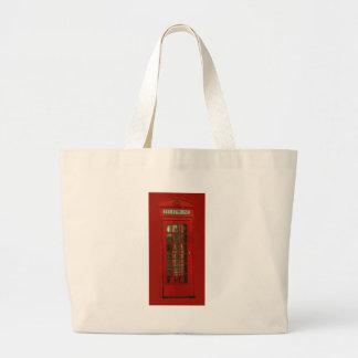 Vintage Red Telephone Box Jumbo Tote Bag