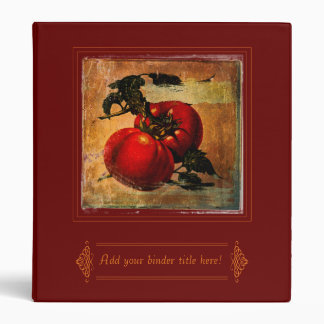 Vintage red tomatoes customizable Binder