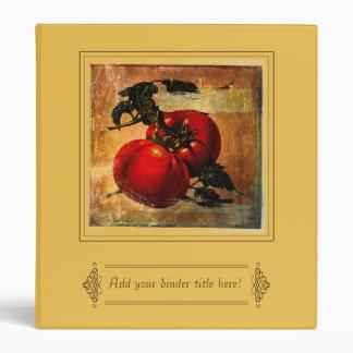 Vintage red tomatoes customizable Binder