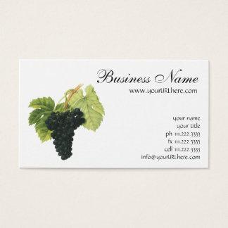 Vintage Red Wine Organic Grape Cluster, Food Fruit Business Card