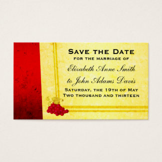 Vintage Red Wine Save the Date Card