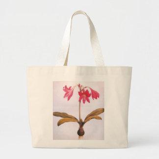 Vintage Redoute Amaryllis Flower Bag