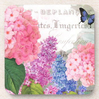 Vintage Redoute Flowers Coaster