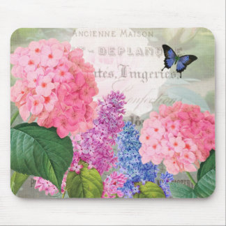 Vintage Redoute Flowers Mouse Pad