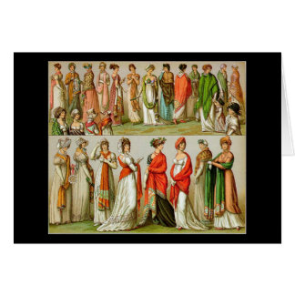 Vintage Regency Empire Shawls, 1888, Greeting Card