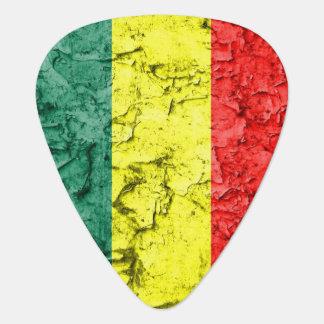 Vintage reggae flag guitar pick