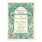 Vintage Rehearsal Dinner Invitations Turquoise