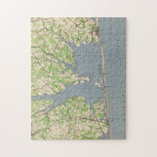 Vintage Rehoboth & Bethany Beach DE Map (1944) Jigsaw Puzzle