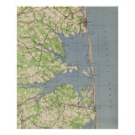 Vintage Rehoboth & Bethany Beach DE Map (1944) Poster