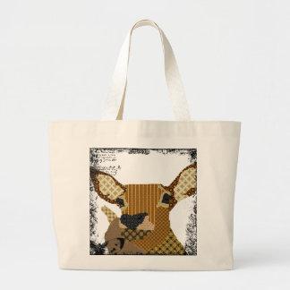 Vintage Reindeer Art Bag