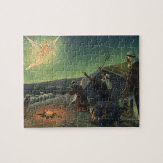 Vintage Religion, Annunciation to the Shepherds Jigsaw Puzzle