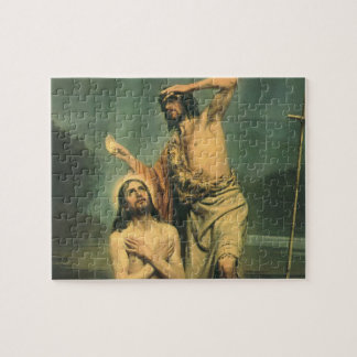 Vintage Religion, Baptism of Jesus Christ Jigsaw Puzzle