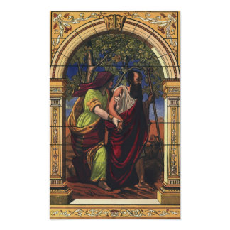 Vintage Religion, Blind Tobit and Wife Anna Poster
