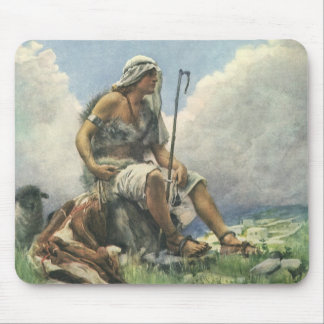 Vintage Religion, David the Shepherd by Copping Mouse Pad