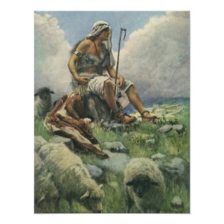 Vintage Religion, David the Shepherd by Copping Poster