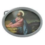 Vintage Religion, Gethsemane, Jesus Christ Praying Oval Belt Buckles