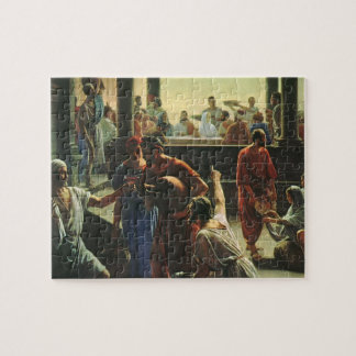 Vintage Religion, Jesus Christ at Wedding of Cana Jigsaw Puzzle