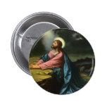 Vintage Religion, Jesus Christ Praying, Gethsemane 2 Inch Round Button