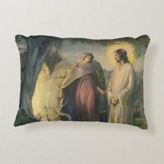 Vintage Religion, Jesus Christ Risen by Tomb Accent Pillow