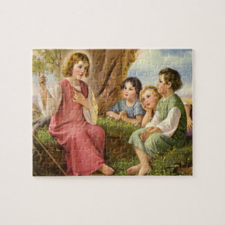 Vintage Religion, Jesus Christ Teaching Children Jigsaw Puzzle