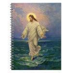 Vintage Religion, Jesus Walking on Water Portrait Journals