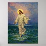 Vintage Religion, Jesus Walking on Water Portrait Posters