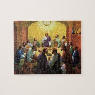 Vintage Religion, Last Supper with Jesus Christ Jigsaw Puzzle