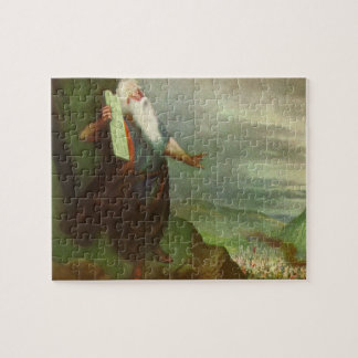Vintage Religion, Moses and 10 Commandments Jigsaw Puzzle