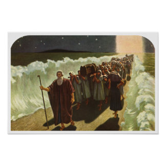 Vintage Religion, Moses Crossing of the Red Sea Poster