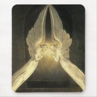 Vintage Religion, Praying Angels Portrait Mouse Pad