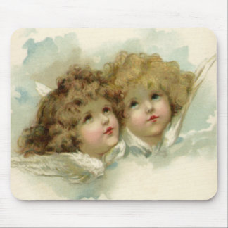 Vintage Religion, Victorian Angels in the Clouds Mouse Pad