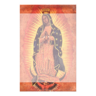Vintage Religion, Virgin Mary, Lady of Guadalupe Stationery