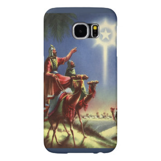 Vintage Religion, Wise Men with Star of Bethlehem Samsung Galaxy S6 Cases