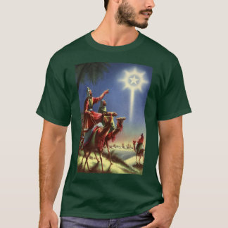 Vintage Religion, Wise Men with Star of Bethlehem T-Shirt