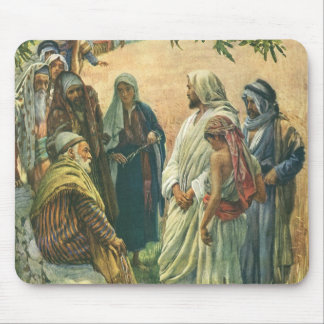 Vintage Religion, Working on Sabbath by Copping Mouse Pad