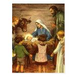 Vintage Religious Christmas, Nativity, Baby Jesus Postcard