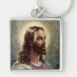 Vintage Religious People, Portrait of Jesus Christ Key Chain