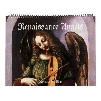 Vintage Renaissance Angels, Antique Fine Art Calendars