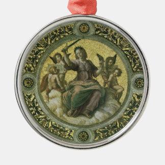 Vintage Renaissance Art, Justice by Raphael Metal Ornament