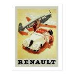 Vintage Renault Ad (airplane) Postcard