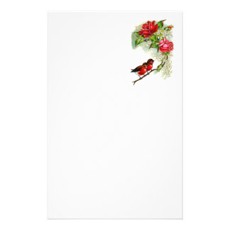 Vintage Reproduction Spring Robins Custom Stationery