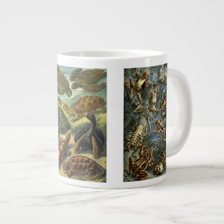 Vintage Reptiles and Amphibians by Ernst Haeckel Large Coffee Mug